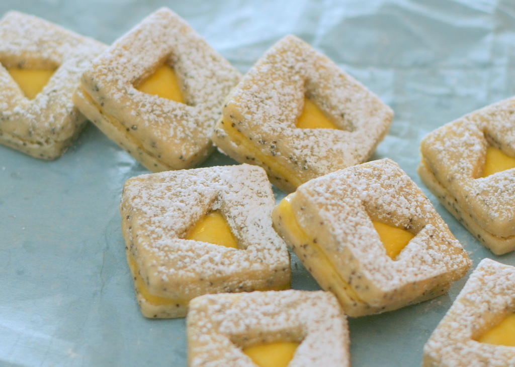 Lemon-Poppy Seed Linzer Cookies