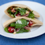 Homemade Pitas with Arugula Salad