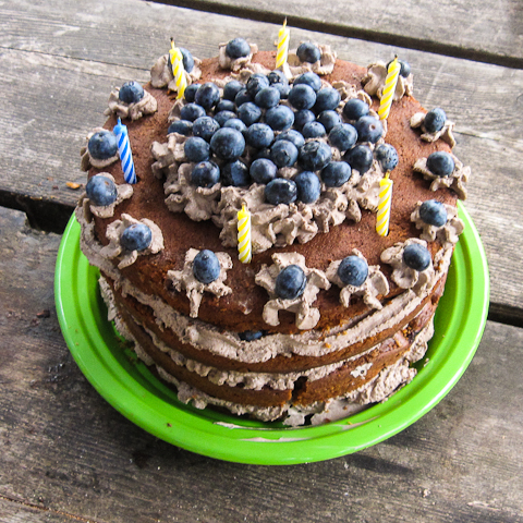 Awesome Blueberry Gingerbread Cake With Mocha Cream Funny Birthday Cards Online Hetedamsfinfo