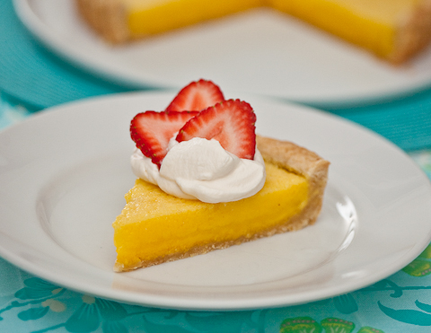 Lemon Pine-Nut Tart Recipe — Dishmaps