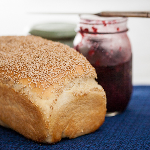 White Bread with Sesame Seeds