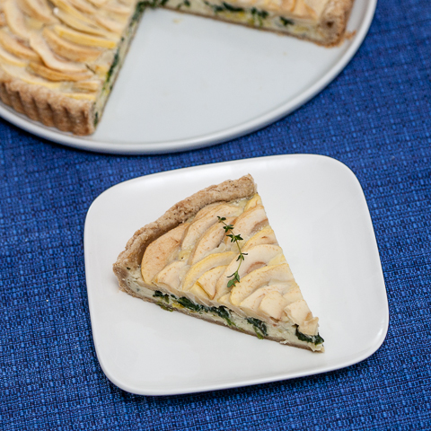Blue Cheese Apple Tart
