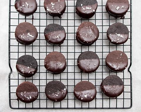 Chocolate Caramel Sandwich Cookies