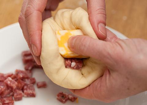 Cheese-Stuffed Dinner Rolls
