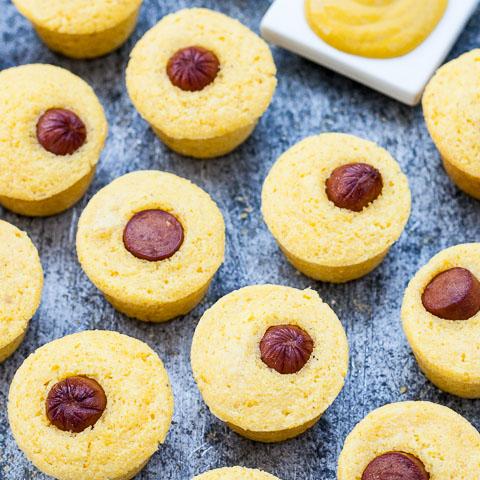 mini corndog muffins