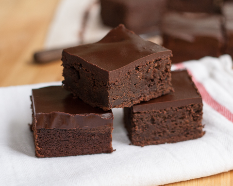 Cinnamon Chocolate Brownies with Chocolate Ganache