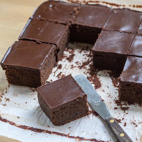 Cinnamon Chocolate Brownies with Chocolate Ganache