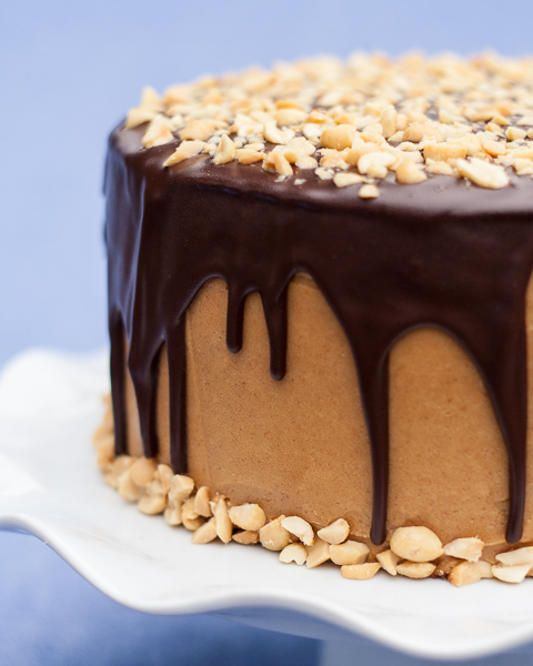 for this Peanut Butter Chocolate Cake featuring rich chocolate cake ...