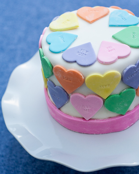 Conversation Hearts Cake | Flour Arrangements