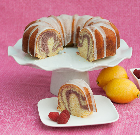 Lemon-Raspberry Swirl Cake   Flour Arrangements