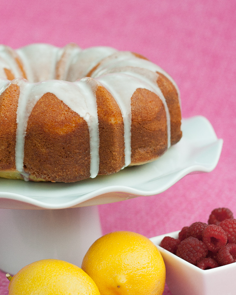 Lemon-Raspberry Swirl Cake | Flour Arrangements