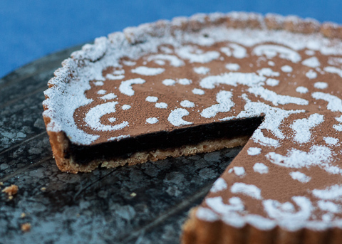 Mocha Tart with Shortbread Crust | Flour Arrangements