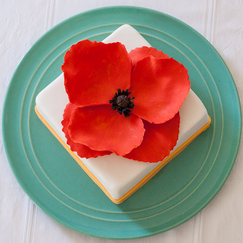 Poppy Cake | Flour Arrangements