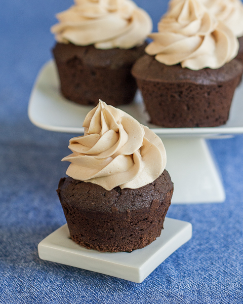 Triple Chocolate Cupcakes with Salted Caramel Frosting | Flour Arrangements