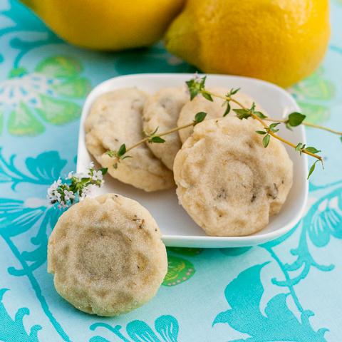 Lemon-Thyme Shortbread Cookies | Flour Arrangements