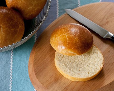 Brioche Hamburger Buns   Flour Arrangements