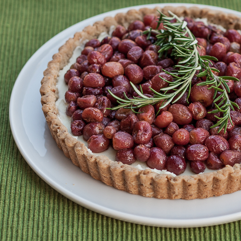 Roasted Grape Tart | Flour Arrangements